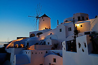Oia Windmills at sunset