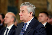 President of European Parliament Antonio Tajani <br /> Rome December 19th 2018. Quirinale. Traditional exchange of Christmas wishes between the President of the Republic and the institutions.<br /> Foto Samantha Zucchi Insidefoto
