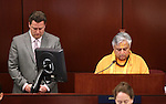 Nevada Assembly Speaker John Oceguera, D-Las Vegas, listens to the invocation by Rajan Zed, with the Hindu Temple of Northern Nevada, on the Assembly floor on Monday, April 25, 2011, at the Legislature in Carson City, Nev. .Photo by Cathleen Allison