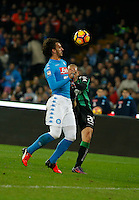 Manolo Gabbiadini during the  italian serie a soccer match,between SSC Napoli Sassuolo       at  the San  Paolo   stadium in Naples  Italy , November 28, 2016