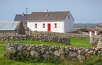 County Galway, Ireland: Irish cottage in the Lower Connemara Region.