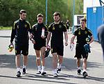 16.05.2018 Livingston FC training and presser: Gregor Buchanan, Josh Mullin, Craig Halkett and Matthew Knox