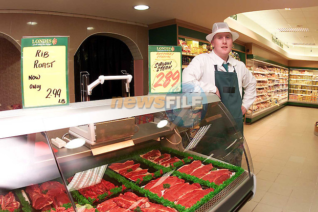 The meat department in Londis, Bettystown.Picture Paul Mohan Newsfile