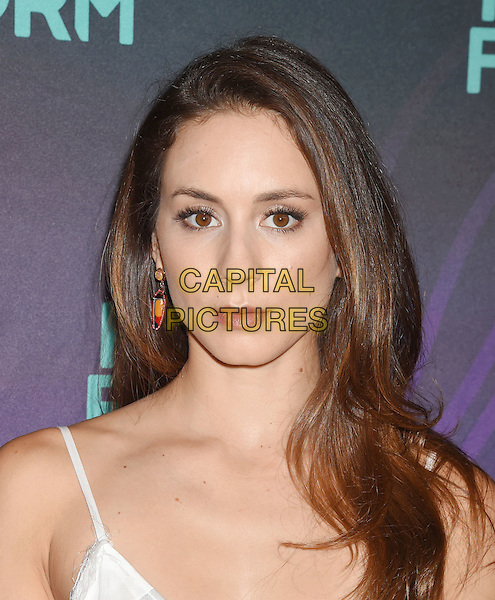 BEVERLY HILLS, CA - AUGUST 04: Actress Troian Bellisario arrives at the Disney ABC Television Group TCA Summer Press Tour at the Beverly Hilton Hotel on August 4, 2016 in Beverly Hills, California.<br /> CAP/ROT/TM<br /> &copy;TM/ROT/Capital Pictures