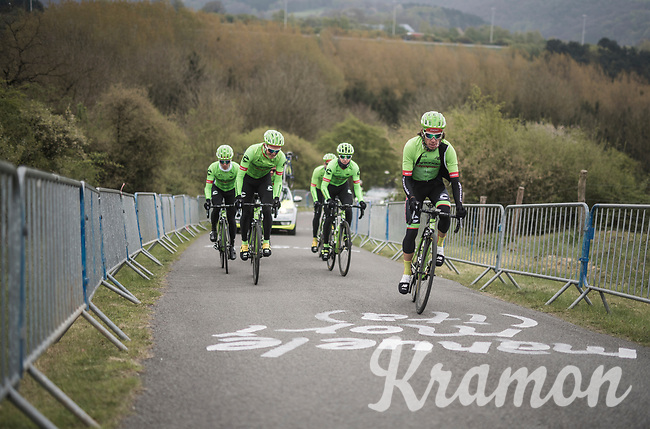 Team Cannondale-Drapac during the 103rd Liège-Bastogne-Liège 2017 recon ride