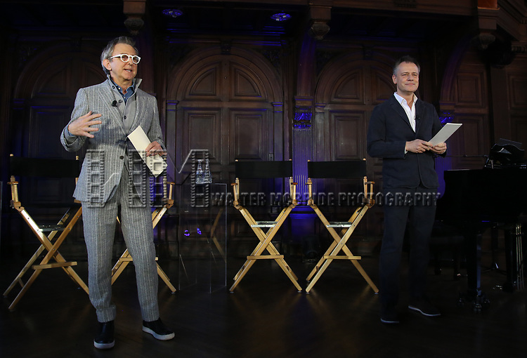 Thomas Schumacher and Michael Grandage attends the press day for 'Frozen' The Broadway Musical on February 13, 2018 at the Highline Hotel in New York City.
