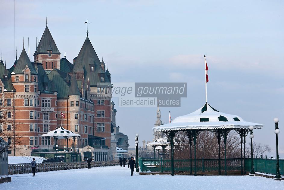 Am&eacute;rique/Am&eacute;rique du Nord/Canada/Qu&eacute;bec/ Qu&eacute;bec:<br /> Ch&acirc;teau Frontenac  vu depuis le belv&eacute;d&egrave;re de la terrasse Dufferin