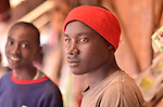 Teenage boys at the Saturday market in Kigali Rwanda