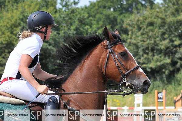 Class 4. British showjumping seniors. Brook Farm Training Centre. Essex. UK. 07/07/2018. ~ MANDATORY Credit Ellen Szalai/Sportinpictures - NO UNAUTHORISED USE - 07837 394578