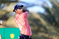 Oliver Wilson (ENG) on the 14th tee during the 2nd round of the Abu Dhabi HSBC Championship, Abu Dhabi Golf Club, Abu Dhabi,  United Arab Emirates. 17/01/2020<br /> Picture: Fran Caffrey   Golffile<br /> <br /> <br /> All photo usage must carry mandatory copyright credit (© Golffile   Fran Caffrey)