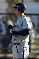 February 26, 2010:  Matt Frazer (47) of the West Virginia Moutaineers during the Big East/Big 10 Challenge at Bright House Field in Clearwater, FL.  Photo By Mike Janes/Four Seam Images