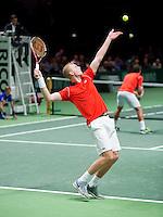 Februari 09, 2015, Netherlands, Rotterdam, Ahoy, ABN AMRO World Tennis Tournament, Jesse Huta Galung (NED) / Glenn Smits (NED) <br /> Photo: Tennisimages/Henk Koster