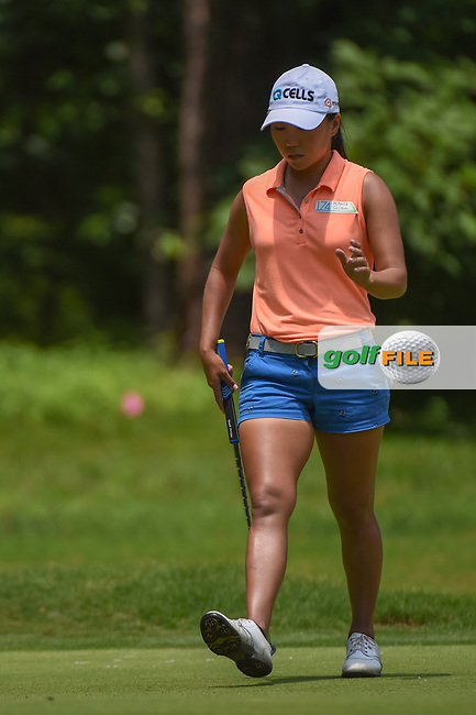 I.K. Kim (KOR) sinks her putt on 1 during round 1 of the U.S. Women's Open Championship, Shoal Creek Country Club, at Birmingham, Alabama, USA. 5/31/2018.<br /> Picture: Golffile | Ken Murray<br /> <br /> All photo usage must carry mandatory copyright credit (© Golffile | Ken Murray)