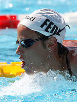 Trofeo Settecolli di nuoto al Foro Italico, Roma, 15 giugno 2013.<br /> Federica Pellegrini, of Italy, attends a practice session at the Sevenhills swimming trophy in Rome, 15 June 2013.<br /> UPDATE IMAGES PRESS/Isabella Bonotto