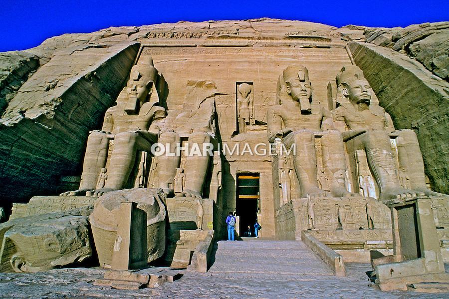 Templo de Abu Simbel em Aswan. Egito. 1996. Foto de Luciana Whitaker.