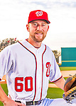 28 February 2016: Washington Nationals relief pitcher Matt Grace poses for his Spring Training Photo-Day portrait at Space Coast Stadium in Viera, Florida. Mandatory Credit: Ed Wolfstein Photo *** RAW (NEF) Image File Available ***