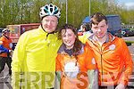 GOOD CAUSE: Cyclists taking part in the Cycle Against Suicide at the IT Tralee north campus on Friday l-r: Rory O'Doherty, Dublin, Aoife Brosnan, Tralee and Josh Connolly, Scartaglin.