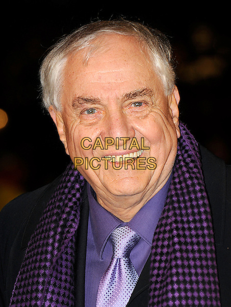 GARRY MARSHALL.The European Premiere of 'Valentine's Day', Odeon Leicester Square, London, England..February 11th, 2010.arrivals headshot portrait black purple scarf .CAP/BEL.©Tom Belcher/Capital Pictures.