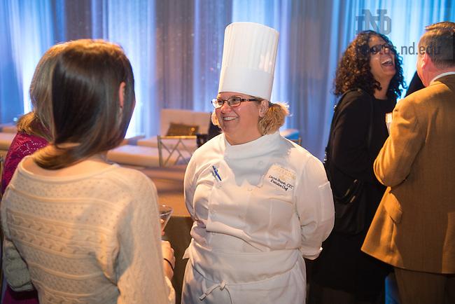 Nov. 9, 2015; Notre Dame Food Services reception for celebrity chef Suvir Saran. (Photo by Matt Cashore/University of Notre Dame)