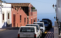 View of a street which goes down to the sea in Tenerife island