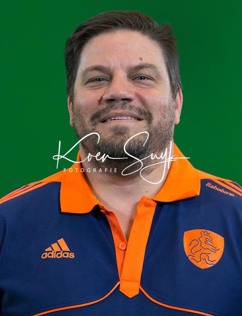 DEN BOSCH -  Bondscoach bij de mannen,  MAX CALDAS. Nederlands Hockeyteam  voor nieuwe platform Hockey.nl.    FOTO KOEN SUYK