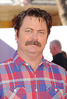 WWW.BLUESTAR-IMAGES.COM  Actor Nick Offerman arrives at the Los Angeles premiere of 'The Lego Movie' held at Regency Village Theatre on February 1, 2014 in Westwood, California.<br /> Photo: BlueStar Images/OIC jbm1005  +44 (0)208 445 8588