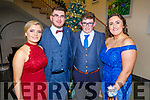 Brenda Devane, Jack Horgan, Padraig Crean and Katie O'Donnell attending the CBS the Green Debs in the Ballyroe Heights Hotel on Monday night.