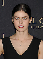 WWW.BLUESTAR-IMAGES.COM  Actress Alexandra Daddario arrives at the BVLGARI 'Decades Of Glamour' Oscar Party Hosted By Naomi Watts at Soho House on February 25, 2014 in West Hollywood, California.<br /> Photo: BlueStar Images/OIC jbm1005  +44 (0)208 445 8588