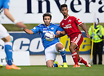 St Johnstone v Aberdeen...23.08.14  SPFL<br /> Simon Lappin and Shaleum Logan<br /> Picture by Graeme Hart.<br /> Copyright Perthshire Picture Agency<br /> Tel: 01738 623350  Mobile: 07990 594431