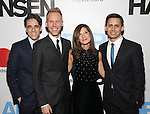 Steven Levenson, Justin Paul,  Stacey Mindich and Benj Pasek attends the Broadway Opening Night Performance of 'Dear Evan Hansen'  at The Music Box Theatre on December 4, 2016 in New York City.
