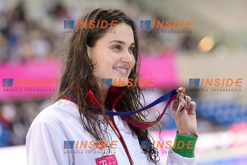 Zsuzsanna JAKABOS HUN Bronze medal <br /> 400m Medley Women final<br /> London, Queen Elizabeth II Olympic Park Pool <br /> LEN 2016 European Aquatics Elite Championships <br /> Diving  <br /> Day 08 16-05-2016<br /> Photo Andrea Staccioli/Deepbluemedia/Insidefoto