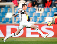 Calcio, Serie A: Sassuolo vs Juventus. Reggio Emilia, Mapei Stadium, 29 gennaio 2017. <br /> Juventus&rsquo; Mario Mandzukic in action during the Italian Serie A football match between Sassuolo and Juventus at Reggio Emilia's Mapei stadium, 29 January 2017.<br /> UPDATE IMAGES PRESS/Isabella Bonotto