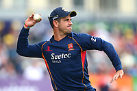 Essex skipper Ryan ten Doeschate throws the ball ahead of Gloucestershire vs Essex Eagles, NatWest T20 Blast Cricket at The Brightside Ground on 13th August 2017