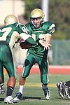 Manhattan Beach, CA 10/27/11 - David Ginossi (Mira Costa #12) in action during the Peninsula vs Mira Costa Junior Varsity football game.