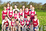 REPERSENTING: Repserenting Lios Tuathail Athlitic Club in the AAI Unevan Cross Country on Sunday in Kilmoley. Front l-r: Jermey Lynch, Aaron and Ciaran Pierse, Kieran Lynch, Daniel Sheehan and jack McKenna. 2nd row l-r: Ciara Donegan, Niamh Cullen, Sophie Lynch, Marian O'Neill, Colette Foley and Orlaith  Cullen. Back row l-r: Brennda Foley, Rebecca Lynch, Siobhan Donegan and Muireann McKenna........... ............................................................   Copyright Kerry's Eye 2008