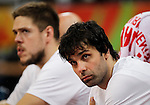 Kosarka FIBA Olympic Basketball Qualifying Tournament-FINAL<br /> Serbia v Puerto Rico<br /> Milos Teodosic (R) and Vladimir Stimac<br /> Beograd, 09.07.2016.<br /> foto: Srdjan Stevanovic/Starsportphoto&copy;
