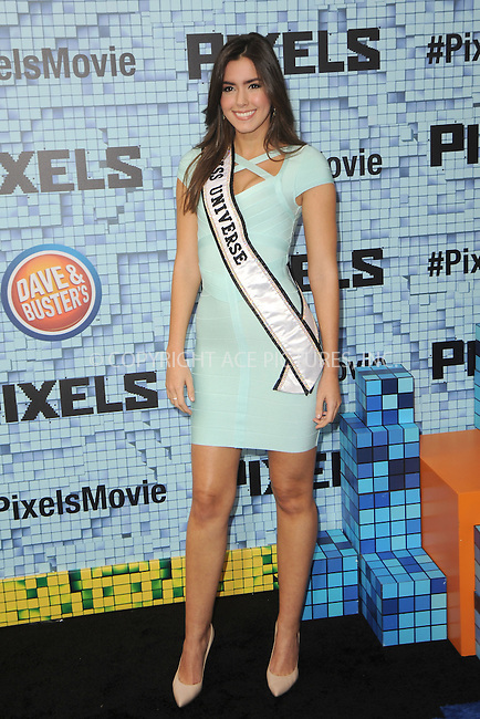 WWW.ACEPIXS.COM<br /> July 18, 2015 New York City<br /> <br /> Paulina Vega attending the 'Pixels' Premiere at Regal E-Walk on July 18, 2015 in New York City.<br /> <br /> Please byline: Kristin Callahan/ACE <br /> <br /> <br /> Tel: (646) 769 0430<br /> e-mail: info@acepixs.com<br /> web: http://www.acepixs.com