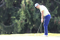 Felipe Aguilar (CHI) chips onto the 15th green during Thursday's Round 1 of the 2017 Omega European Masters held at Golf Club Crans-Sur-Sierre, Crans Montana, Switzerland. 7th September 2017.<br /> Picture: Eoin Clarke | Golffile<br /> <br /> <br /> All photos usage must carry mandatory copyright credit (&copy; Golffile | Eoin Clarke)