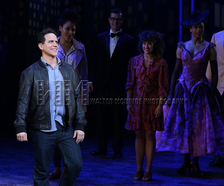 "Santino Fontana with cast during the Broadway Opening Night of ""Tootsie"" at The Marquis Theatre on April 22, 2019  in New York City."