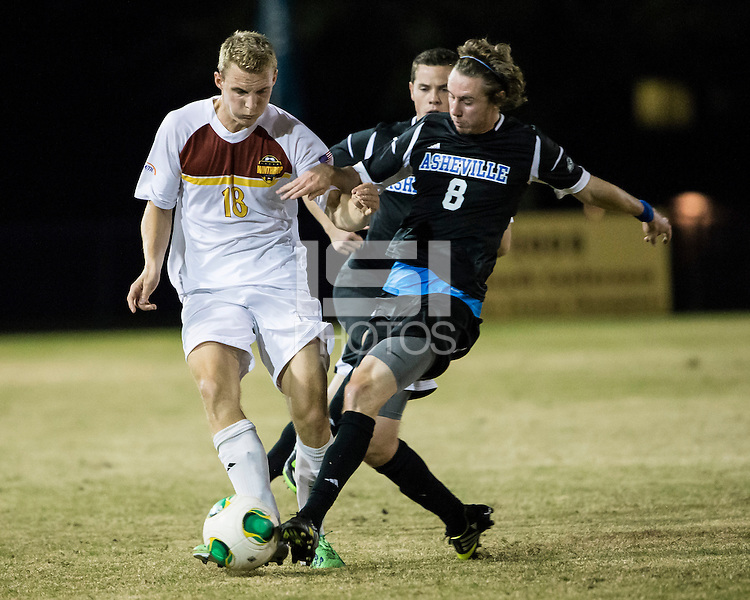 The Winthrop University Eagles beat the UNC Asheville Bulldogs 4-0 to clinch a spot in the Big South Championship tournament.  Max Hasenstab (18), Mick Giordano (8)