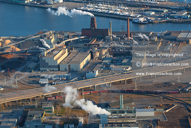 Papiers Stadacona paper mill in Quebec city is pictured in this aerial photo November 11, 2009. Owned by White Birch Paper, the five paper machines at Stadacona have the capability of producing more than 400,000 tons of newsprint, 80,000 tons of directory stock and 45,000 tons of paperboard packaging and multi-ply uncoated specialty grade paper.