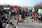 MP Caroline Lucas at a march against the building of  Hinkley C power station, Somerset  and the UK government's choice of Nuclear power as the mainstay of England's power supply.
