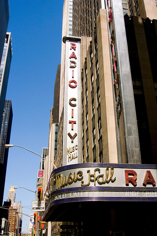 New York City, New York: Radio City Music Hall .Photo #: ny279-14766  .Photo copyright Lee Foster, www.fostertravel.com, lee@fostertravel.com, 510-549-2202.