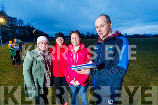 Getting ready for the Kerry's Eye Tralee International Marathon which takes place on the 18th of March are members of the Tralee Harriers Athletics Club, from left: Emma Skehan, Louise O'Connoe, Maura Crossan and Paul Griffin, PRO Tralee Harriers.