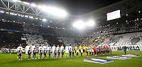 Calcio, Champions League: Gruppo D - Juventus vs Siviglia. Torino, Juventus Stadium, 30 settembre 2015. <br /> Juventus and Sevilla's players arrive for their Group D Champions League football match at Turin's Juventus Stadium, 30 September 2015. <br /> UPDATE IMAGES PRESS/Isabella Bonotto