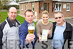 DRINK UP: Announcing plans for a beer making course at the Shannow Family Resource Centre in Abbeydorney this week were l-r: Gerard Locke, Danny Hennessy, Laura Dineen and James Conway.
