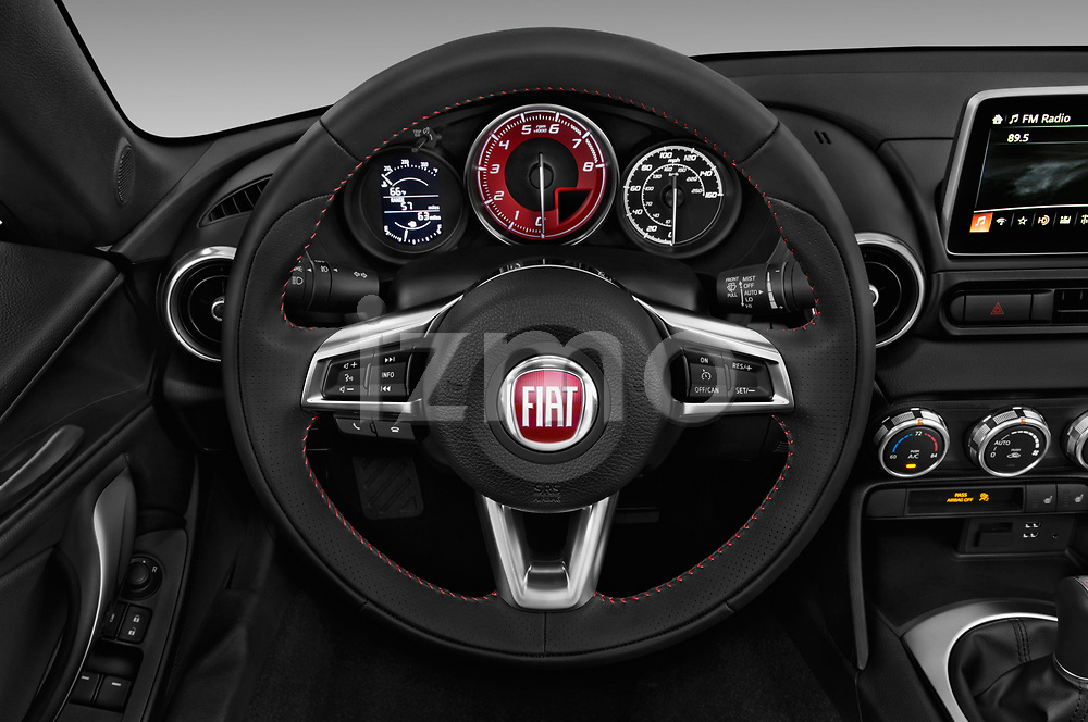 Car pictures of steering wheel view of a 2018 Fiat 124-Spider Abarth 2 Door Convertible Steering Wheel