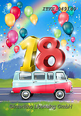 Isabella, CHILDREN BOOKS, BIRTHDAY, GEBURTSTAG, CUMPLEAÑOS, paintings+++++,ITKE049140,#BI#, EVERYDAY ,balloons ,18 ,age cards