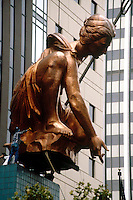COPPER SCULPTURE (PORTLANDIA)<br /> Demonstrates Malleability of Copper Metal<br /> Portlandia is a Copper repousse sculpture (a thin skin of copper is supported by steel armature) and is the largest repousse in the United States after the Statue of Liberty.