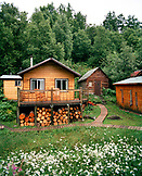 USA, Alaska, cabins at the Redoubt Bay Lodge in Redoubt Bay